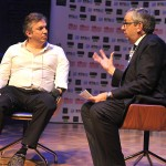Giles Duley in conversation with Simon Spanswick, AIB CEO, at AIBs 2013 - 1
